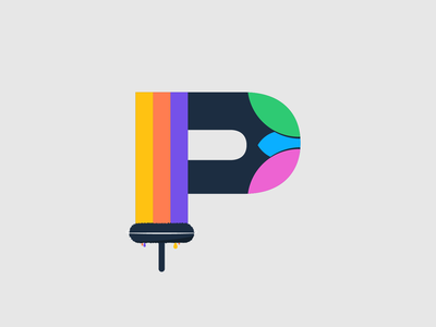 P - PAINT 36days-p p - paint p 36days-adobe contest after affects 36daysoftype 36daysoftype06 36 days type challenge illustration illustrator cc