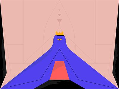 △👁 Eye See You 👁△ dribbble vector animation illustration illuminati texture eye crown door 666 god monster