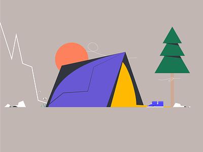 FLOWTUTS CAMPING illustrators peace nature adobeillustator camping tent illustrationart designs drawing vector illustrator dribbble flowtuts design illustrationoftheday illustrations illustration