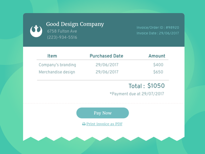 Daily UI #046: Invoice payment ux ui invoice daily ui 046 daily ui