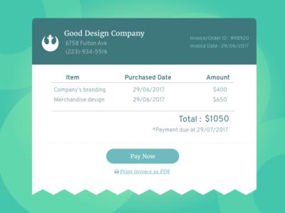 Daily UI #046: Invoice