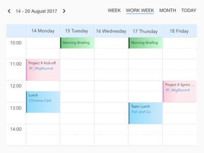 Daily UI #071: Schedule
