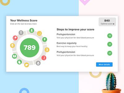Wellness score tile web ekincare optimal score exercise healthy healthy life health risk wellness score score wellness