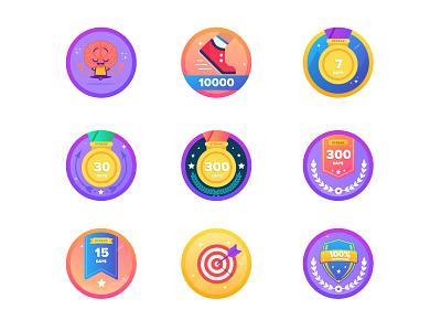Gamification Badges ui web mobile social gaming ranking challenges ranks badges gamification