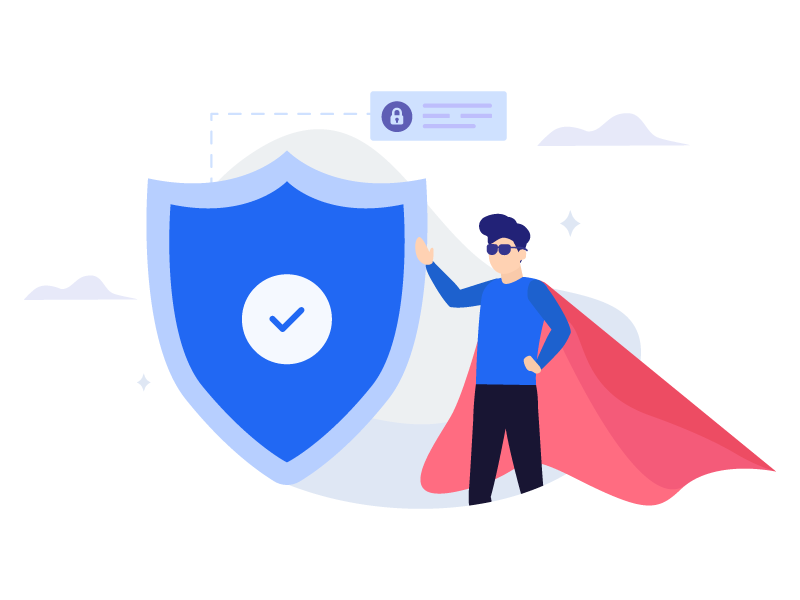 Secure illustration super data protection security secure