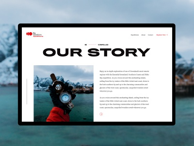 Big Questions Xpeditions website minimal clean editorial layout web design typography