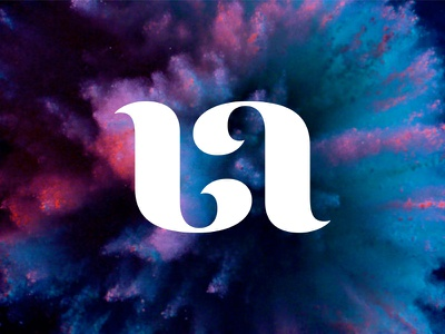 Bleached Arts identity typography arts logo identity brand mark clean