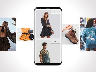 Fashion retail website minimal clean mobile fashion