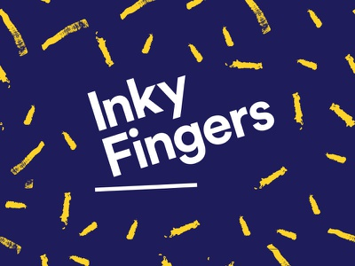 Inky Fingers - identity naming tee t-shirt printers screen printing personality identity brand