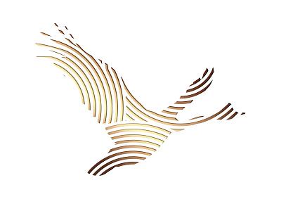 Magpie Goose wine goose gold foil bird wine label logo
