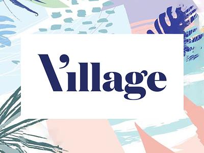 Rejected Village branding logo illustration typography clean identity branding