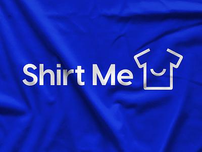 Shirt Me Logo fun vibrant tshirt smile logo typography clean identity branding