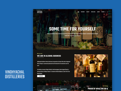 Vindhyachal Distilleries - Alcohol Website UI/UX ux ui photoshop adobe xd