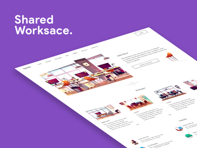 Shared Work Space Provider Website ui vector adobe illustrator photoshop adobe xd