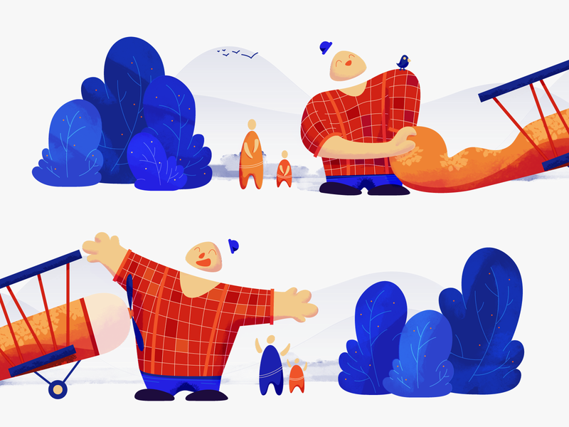 Mailpoet Gang gang friends art colorful color illustration