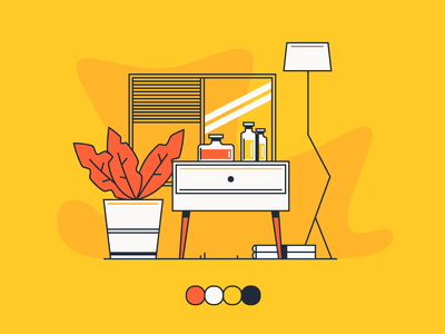 Simply Colours simple design bright art colorful illustration