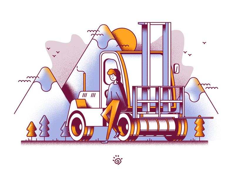 Vehicle noise vehicle vector design art colorful illustration