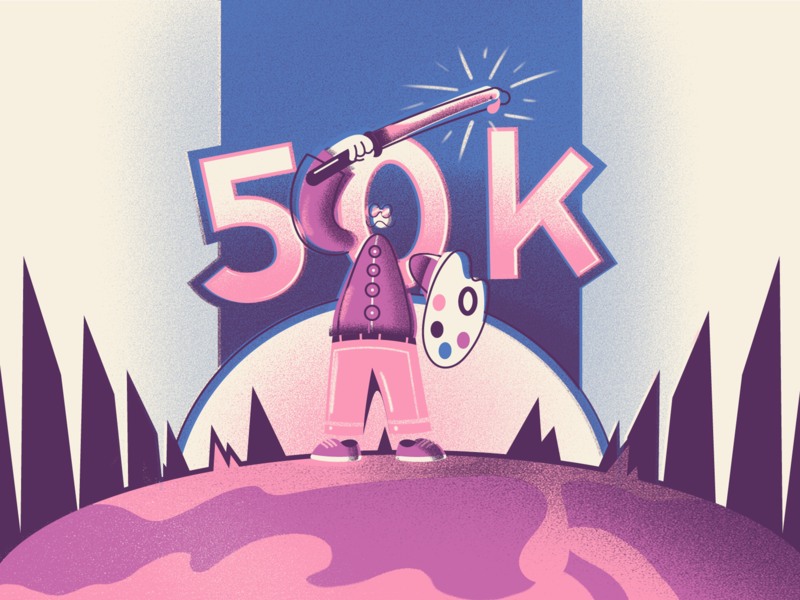 """50k """"Colourers"""" special art bright colorful illustration"""