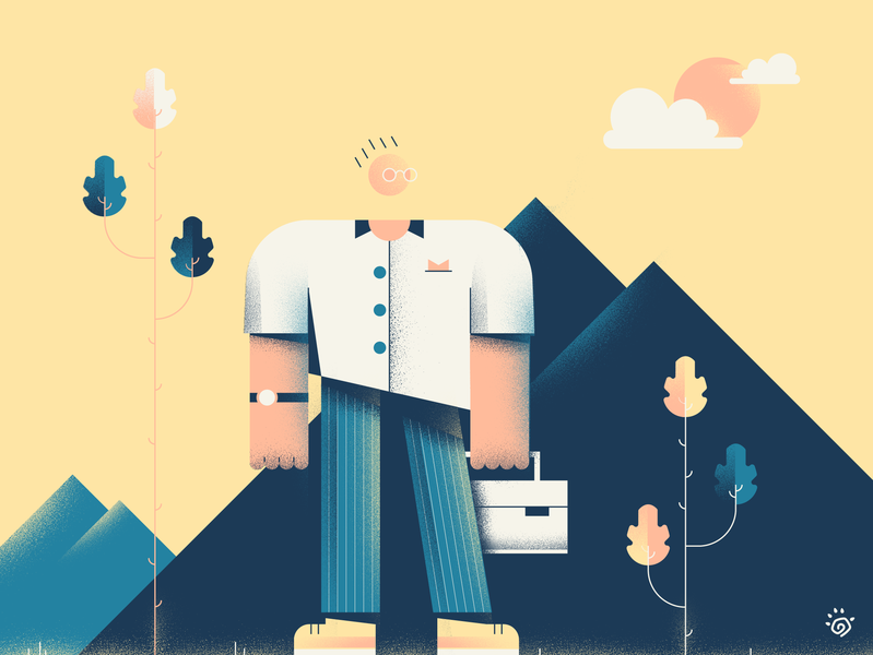 Worker Man art vector design colorful illustration