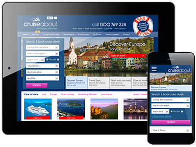 Cruiseabout responsive design travel responsive ui ux information architecture