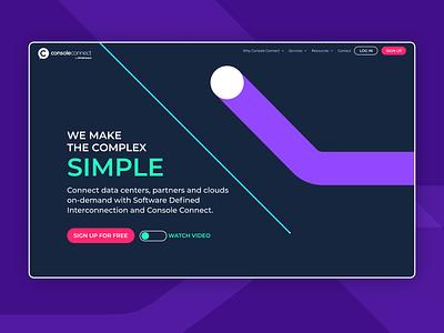 Console Connect website redesign information architecture rebrand homepage web design website marketing illustration branding brand interaction design ui interface design ux