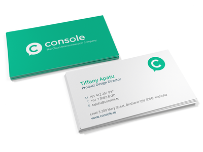 Console Business Cards