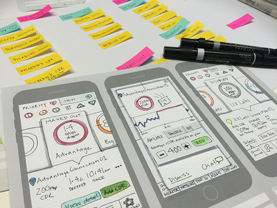 Console Mobile App concepts sketches ia concept development mobile user experience product design ux lo-fi prototype paper wireframes