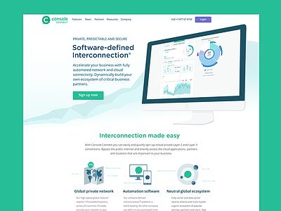 Console Connect website green brand marketing ui website