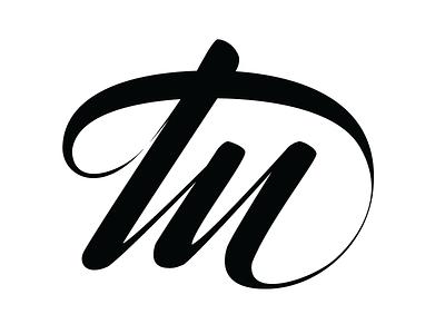 tu monogram handlettering logo monogram