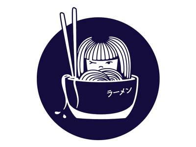 Ramen and other things character design logo branding illustration