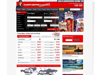 Flight Centre Australia homepage redesign redesign travel flightcentre homepage