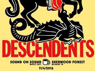 Descendents SOS Poster  milo screenprint descendents poster