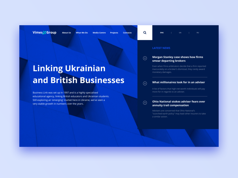 Investment firm website architechture interface grid concept banner web site figma minimal busines news first screen investment ux design web ui site