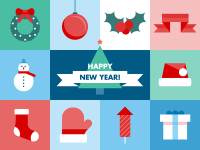 Happy New Year santa claus toy christmas tree toy happy new year christmas stocking holyday celebrate gift snowman 2019 new year eve new year vector illustration