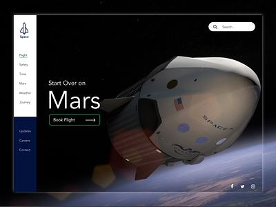 Space Website Theme coronavirus covid19 design vertical navigation navigation menu navigation website user experience ui user interface ux design ui design theme web design