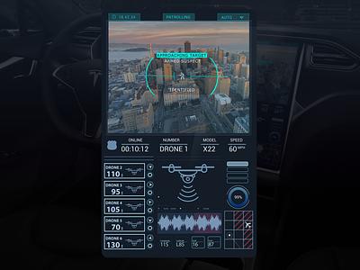 Autonomous Police Drone ux design ui design lockdown covid19 coronavirus visual design uxdesign user interface user experience ui police futuristic drone ui drone design pattern design autonomous