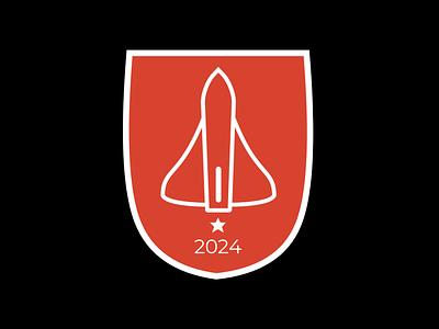 Mars Flag exploration graphic concept emblem spaceship branding flag graphic design martian mars space design