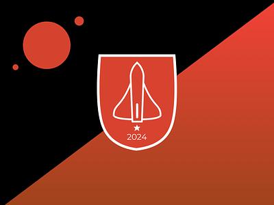 Flag of Mars spaceship space martian mars graphic design graphic flag exploration emblem design concept branding