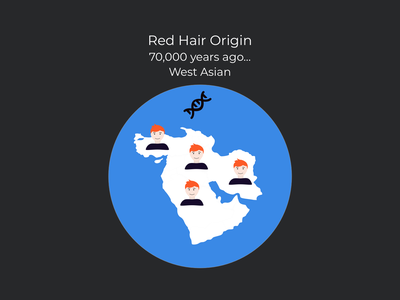 Red Hair Origin design infographic ginger red hair redhead