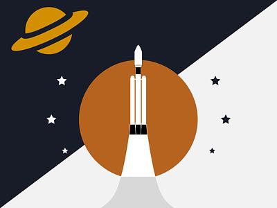 Flag of Titan titan spacex spaceship space saturn nasa graphic design graphic flag exploration design concept branding