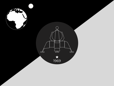 Flag of the Moon illustration earth spacex spaceship space moon nasa graphic flag exploration design concept branding
