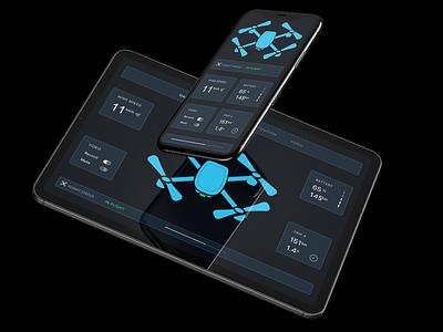 Drone UI app dashboard ui dashboard futuristic flight ipad phone drones droneui drone anthonyboydgraphics user experience ui design user interface ui design ux design