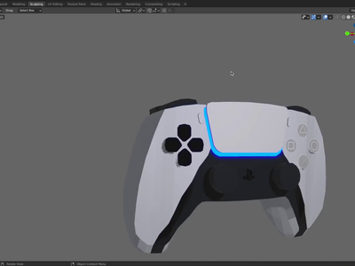 PS5 Controller in 3D blender3dart blender3d blender 3d animation 3d modeling 3d art 3d 3d artist playstation playstation5