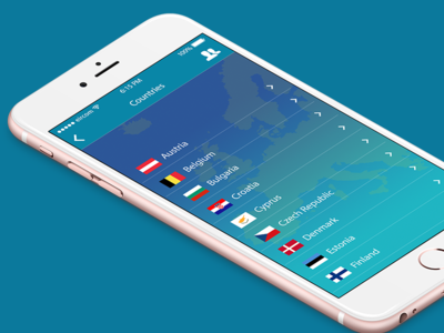 Discover Europe App countries app ux design ui user interface iphone mobile design european union eu phone app ios ui design