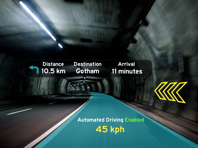 Augmented reality driving underground