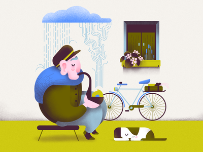Eastern European recycling vector minimal colorful affinitydesigner 2d art flat pastels design illustration