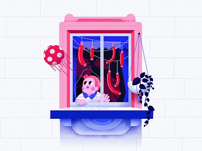 Neighbours #5 cute vector minimal colorful affinitydesigner 2d art flat pastels design illustration