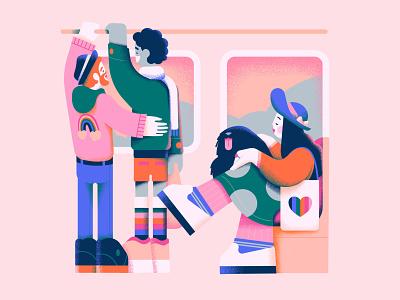 Everyday pride digital art affinity designer illustrator designer vector art character colorful vector art pastels flat illustration design