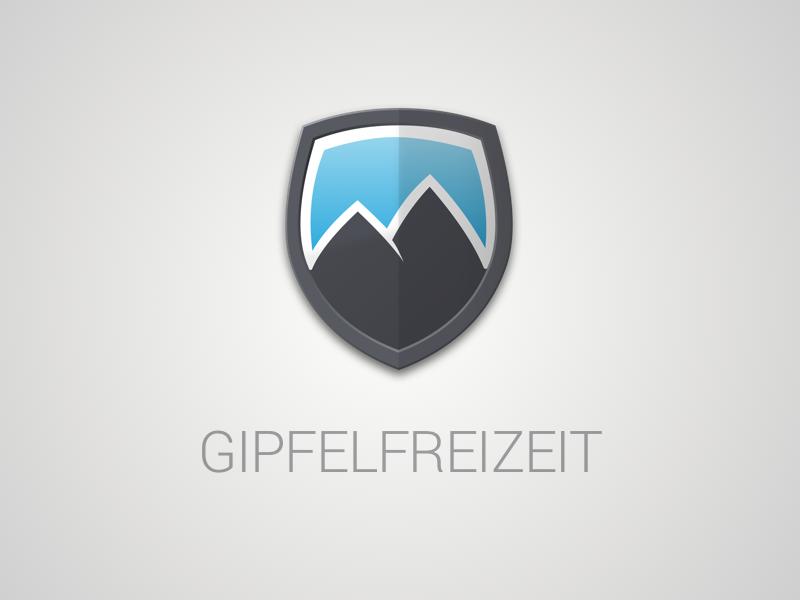 Gipfelfreizeit coat of arms mountains mountaineering logo hiking gipfelfreizeit climbing