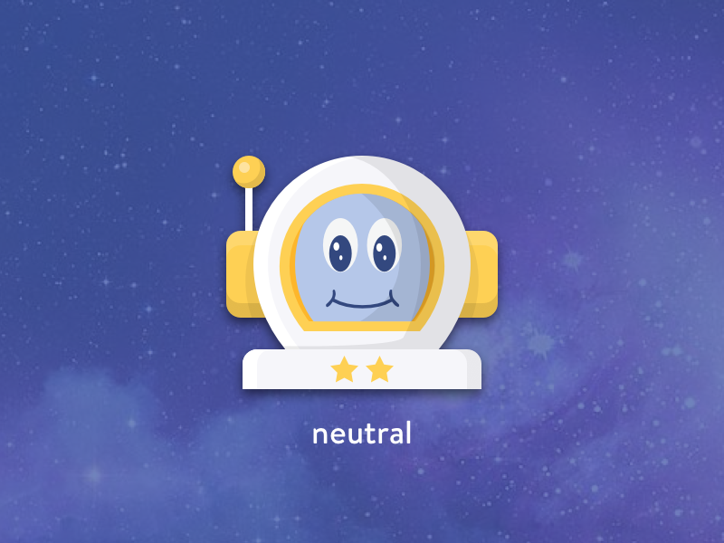 Neutral astronaut space astronaut rating